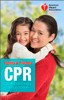 The official book for CPR from the American Heart Association